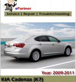 Kia Cadenza 2009 2010 2011 Service Factory Manual – car service