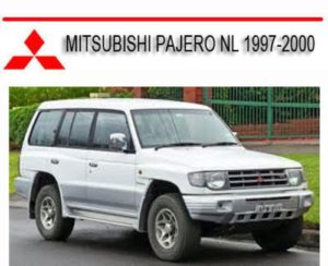 Mitsubishi Pajero Nl 1997-2000 Workshop Service Repair Manual
